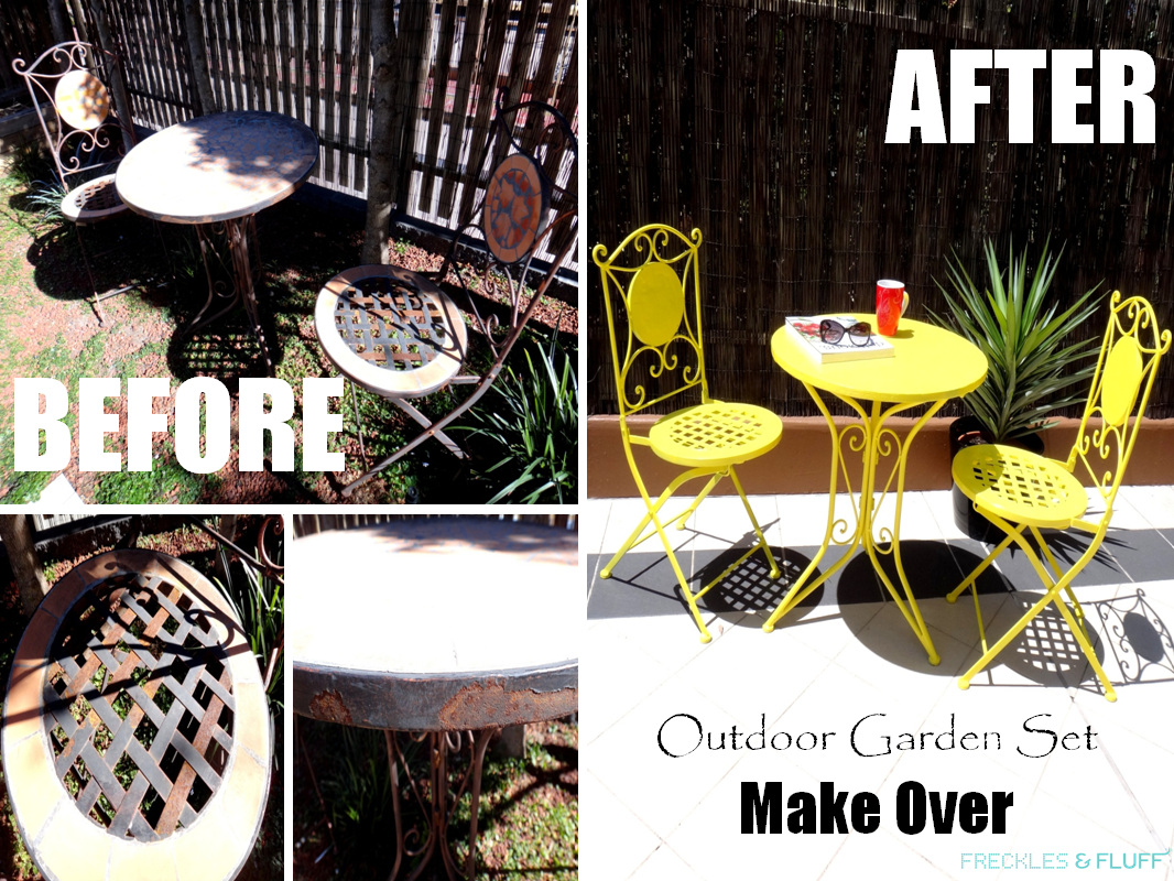Outdoor Garden Set Make Over