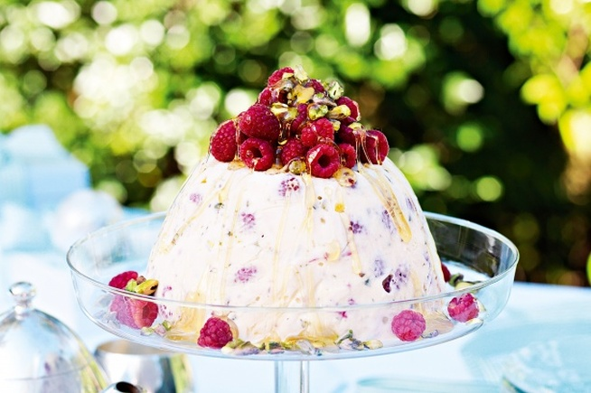 Raspberry & Pistachio Ice Cream Pudding