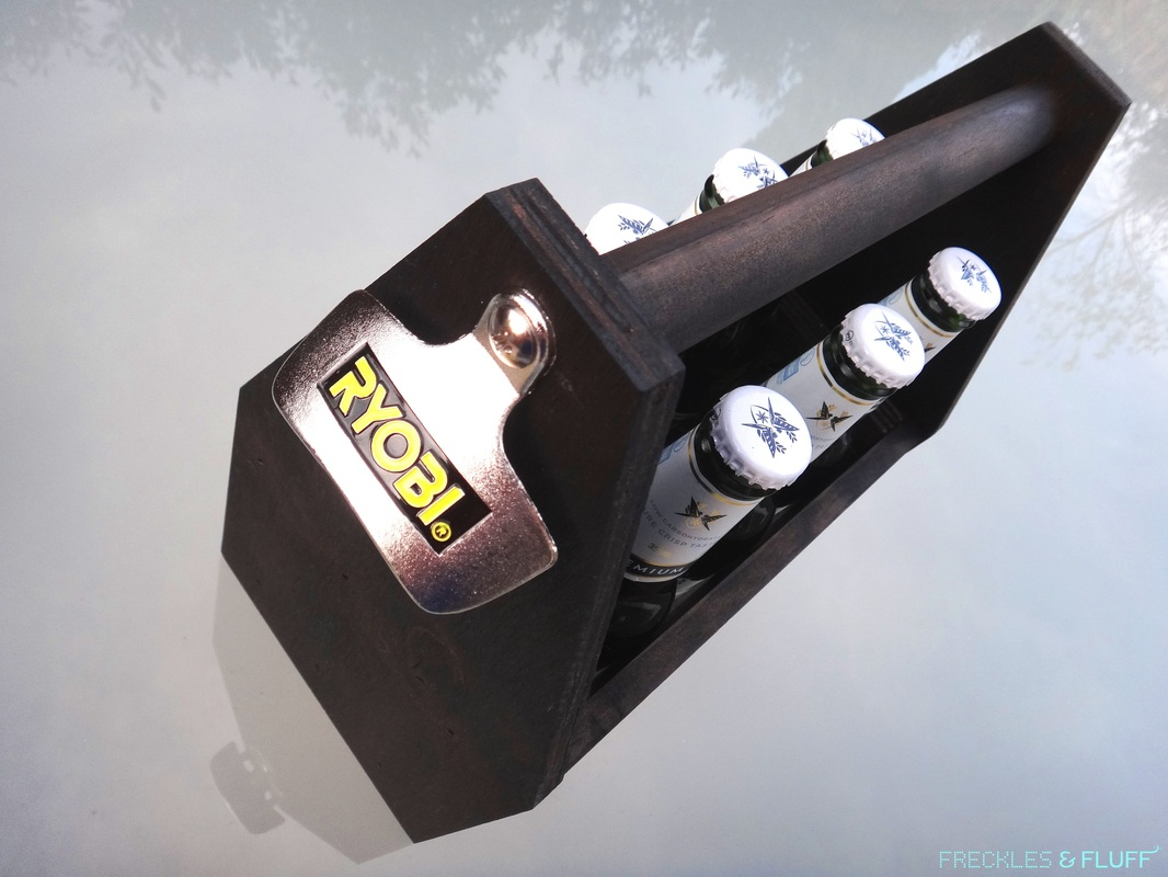 HOW TO MAKE A DRINKS CADDY WITH BOTTLE OPENER