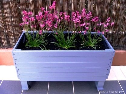Upcycled Wood Planter Box on Wheels